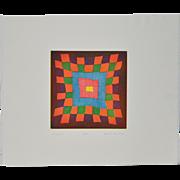 "Arnold Grossman (California, 1923-2016) ""Sunspot"" Color Etching c.1980"