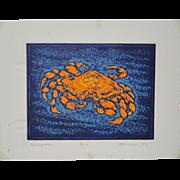 """Arnold Grossman (American) """"Dungeness"""" Silkscreen c.2003"""