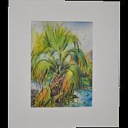 """Arnold Grossman (California, 1923-2016) """"Andreas Canyon"""" Original Watercolor c.2005"""