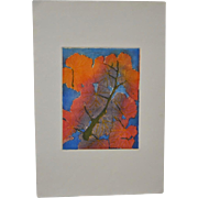 Arnold Grossman (American, 1923-2016) Fall Colors Etching
