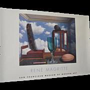 Rene Magritte Exhibition Poster San Francisco Museum of Modern Art c.2000