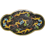 Chinese Enamel Cloissone Dish w/ Dragons