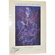 "Chemiakin vs Picasso ""The Picasso Challenge"" Signed Exhibition Poster c.1986"
