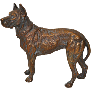 Vintage Bronze Great Dane