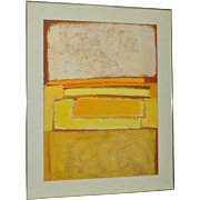 1970s Abstract Oil Painting by San Francisco Artist P. Ciment