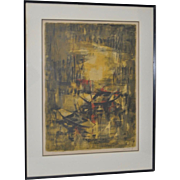Lebadang (1992-2015, Vietnam) Pencil Signed Lithograph c.1960s