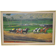 "Keith Bright ""Santa Anita Park"" Oil Painting"