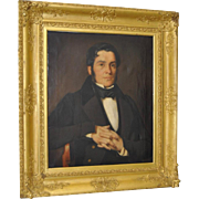Fine 19th Century Oil Portrait in a  Gilded Frame