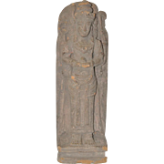 Standing Terra-Cotta Cambodian Buddha Figure