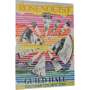 "James Rosenquist Pencil Signed Exhibition Lithograph ""Guild Hall, Starfish"" c.1974"