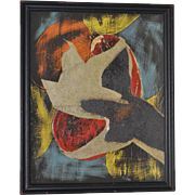 Maude Pestana Mid Century Modern Mixed Media Abstract