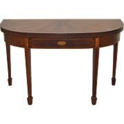 Vintage Inlaid Federal Style Console / Games Table c.1950s