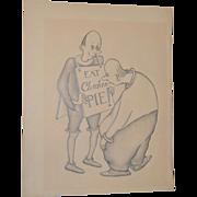 Eat CHICKEN Pie! Original Illustration by Edward Hagedorn c.1940s