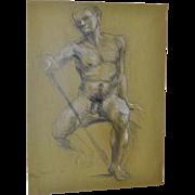 Trevor Southey (California / Utah, 1940-2015) Original Nude Sketch