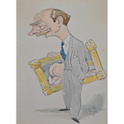 Humorous Original Cartoon Illustration c.1940s
