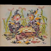 Art Riley (1911-1998) Original Cartoon Illustration c.1960