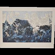 "Mid Century Modern Serigraph ""Ridge of South"" by Dorothy Bowman c.1959"