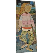 Mixed Media Painting and Collage by Olga Higgins c.1962