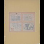 Granville Redmond (1871-1935) Four Sketch Book Sketches c.1920s