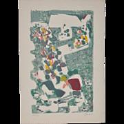 Alexandre Sacha Garbell (1903-1970) Original Pencil Signed Lithograph c.1950