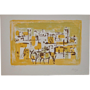 Orlando Pelayo Mid Century Color Lithograph c.1950s