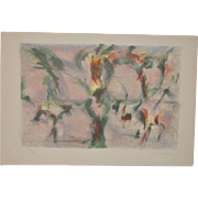 Jean Lombard (French, 1895-1983) Abstract Color Lithograph c.1950s
