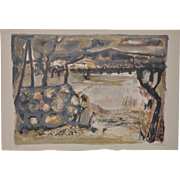 Raymond Guerrier (French, 1920-2002) Mid Century Color Lithograph c.1950