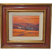 """Ted Littlefield """"Navajo Drive"""" Acrylic Painting"""