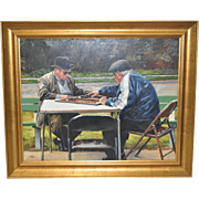 """""""The Next Move"""" Original Oil on Canvas by Craig"""