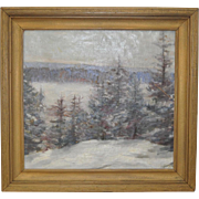 Winter Landscape Oil Painting by Illinois Artist Jane Gage