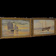 Thomas G. Purvis (1861-1933) Pair of Maritime Paintings c.1900