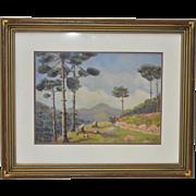 Central America Highlands Landscape Oil Painting