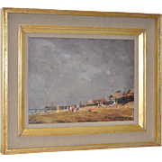 "John Harwood ""Southend-on-Sea"" England Oil Painting c.1972"