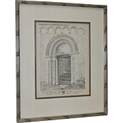 """The South Doorway and the Corbel Table Round"" Etching by J.S. Colman c.1812"