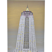 Vintage Fine Art Print of the Empire State Building c.1990