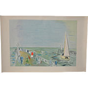 Raoul Dufy Vintage Color Lithograph