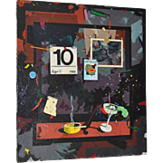 """Mark McDowell (American, b. 1954) """"Don't Go To Work in the Dark"""" Acrylic Painting"""