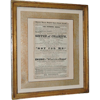 "Theatre Royal, English Opera House, Strand ""Sisters of Charity"" Flyer c.1920s"