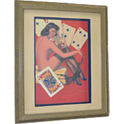 Lady Luck Hand Embellished Lithograph
