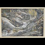 "John Loren Head (Virginia, 1913-1997) ""The Swimming Hole"" Impressionist Oil Painting c.1968"
