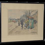 T.F. Simon Color Lithograph c.1920