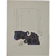 Antoni Clave, Spanish (1913-2005) Embossed Color Lithograph c.1970s