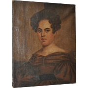 Early 19th Century Oil Portrait of a Beautiful Young Woman c.1831