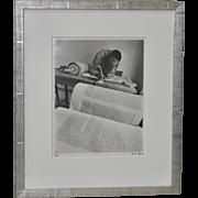 "Micha Bar-Am ""Torah Scribe, Jaffa"" Original Signed Photograph c.1971"