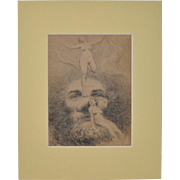 "Granville Redmond ""Figural Nude Fantasy"" c.1920s"