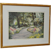 "Harold Altman ""The Shaded Path"" Limited Edition Pencil Signed Lithograph c.1987"