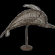 Vintage Wire Dolphin Sculpture