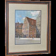Franz Schmidt (1884-1951) Original Gouache on Paper c.1930s