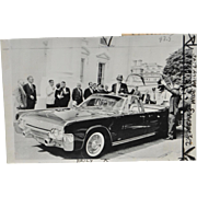 John F. Kennedy Lincoln X-100 Limousine Press Photo c.1963