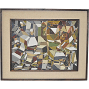 Eugene Peart Bennett (1921-2010) Geometric Abstract Oil Painting c.1961